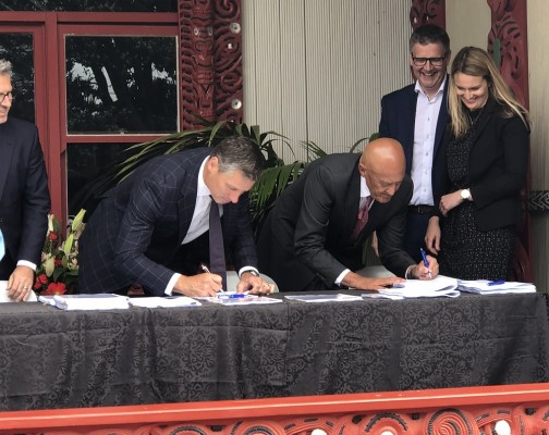 Signing of partnership with Ngati Toa